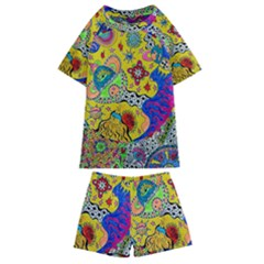 Supersonicplanet2020 Kids  Swim Tee And Shorts Set by chellerayartisans