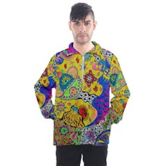 Supersonicplanet2020 Men s Half Zip Pullover