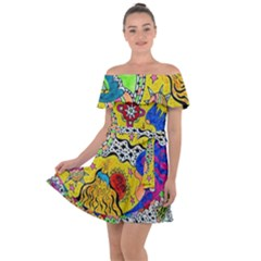 Supersonicplanet2020 Off Shoulder Velour Dress