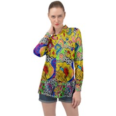 Supersonicplanet2020 Long Sleeve Satin Shirt