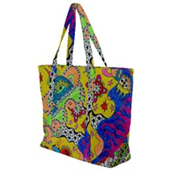 Supersonicplanet2020 Zip Up Canvas Bag by chellerayartisans
