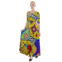Supersonicplanet2020 Half Sleeves Maxi Dress by chellerayartisans