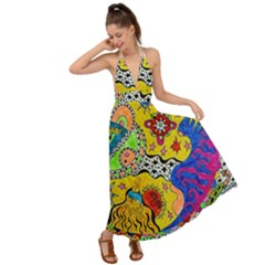 Supersonicplanet2020 Backless Maxi Beach Dress