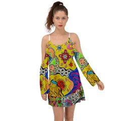 Supersonicplanet2020 Kimono Sleeves Boho Dress
