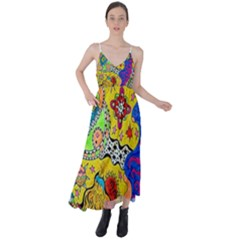 Supersonicplanet2020 Tie Back Maxi Dress by chellerayartisans