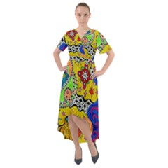 Supersonicplanet2020 Front Wrap High Low Dress