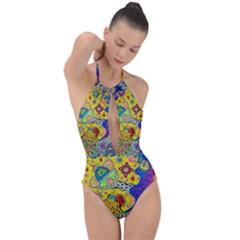 Supersonicplanet2020 Plunge Cut Halter Swimsuit