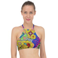 Supersonicplanet2020 Racer Front Bikini Top by chellerayartisans