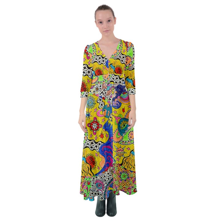 Supersonicplanet2020 Button Up Maxi Dress