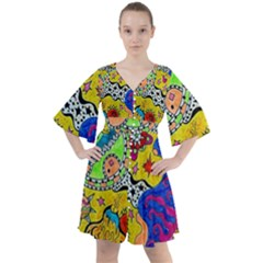 Supersonicplanet2020 Boho Button Up Dress