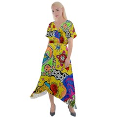 Supersonicplanet2020 Cross Front Sharkbite Hem Maxi Dress
