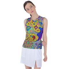 Supersonicplanet2020 Women s Sleeveless Sports Top by chellerayartisans