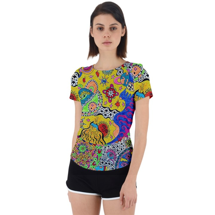 Supersonicplanet2020 Back Cut Out Sport Tee