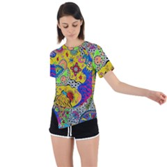 Supersonicplanet2020 Asymmetrical Short Sleeve Sports Tee by chellerayartisans