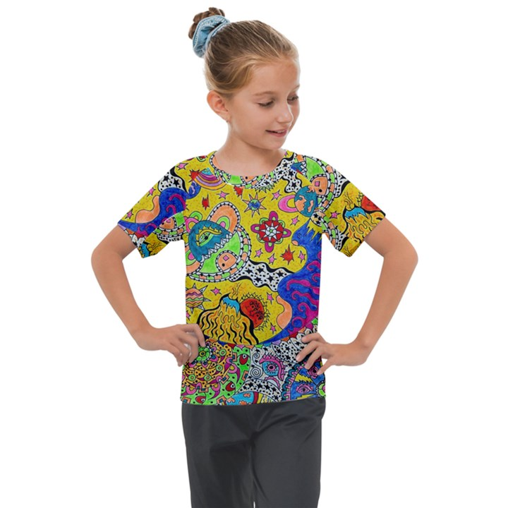 Supersonicplanet2020 Kids  Mesh Piece Tee
