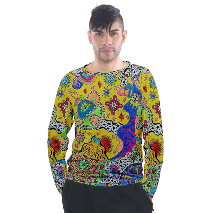 Supersonicplanet2020 Men s Long Sleeve Raglan Tee