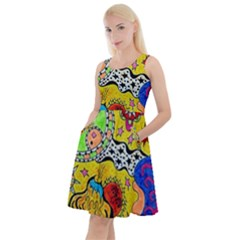Supersonicplanet2020 Knee Length Skater Dress With Pockets