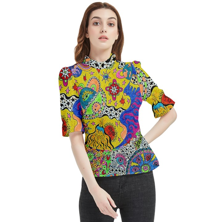 Supersonicplanet2020 Frill Neck Blouse