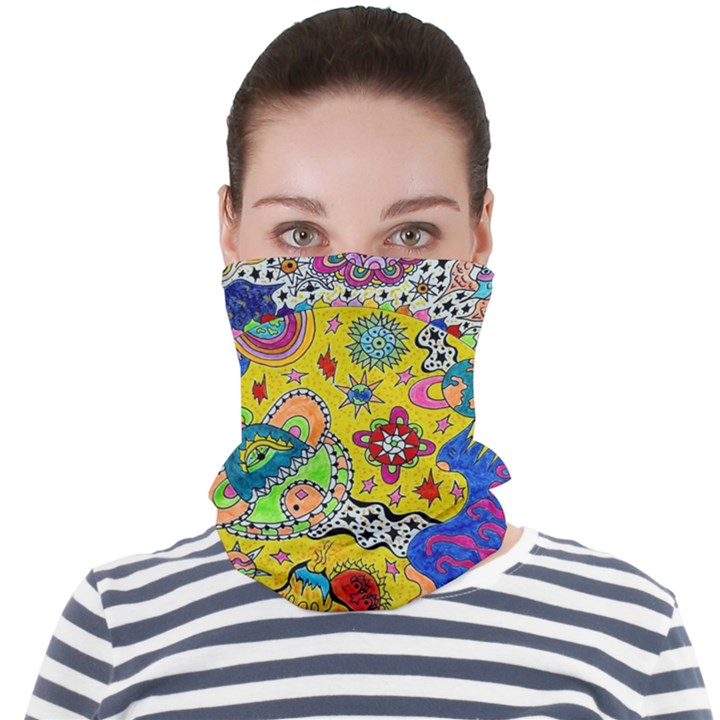 Supersonicplanet2020 Face Seamless Bandana (Adult)