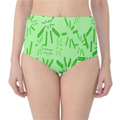 Electric Lime Classic High-waist Bikini Bottoms by Janetaudreywilson
