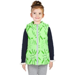 Electric Lime Kids  Hooded Puffer Vest