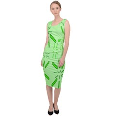 Electric Lime Sleeveless Pencil Dress