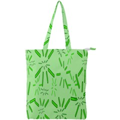 Electric Lime Double Zip Up Tote Bag