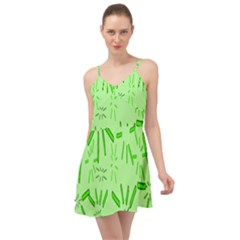 Electric Lime Summer Time Chiffon Dress