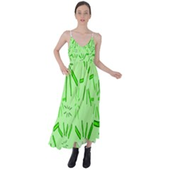 Electric Lime Tie Back Maxi Dress by Janetaudreywilson