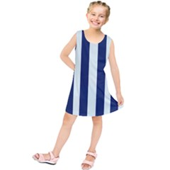 Navy In Vertical Stripes Kids  Tunic Dress