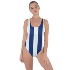 Navy In Vertical Stripes Bring Sexy Back Swimsuit
