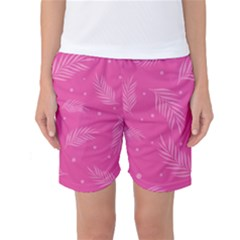 Abstract Summer Pink Pattern Women s Basketball Shorts