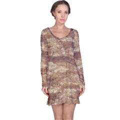 Grunge Surface Print Long Sleeve Nightdress by dflcprintsclothing