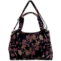 Dark Floral Ornate Print Double Compartment Shoulder Bag