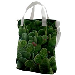 Green Cactus Canvas Messenger Bag by Sparkle