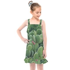 Green Cactus Kids  Overall Dress by Sparkle