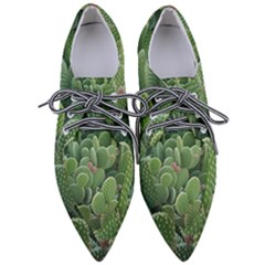 Green Cactus Pointed Oxford Shoes by Sparkle