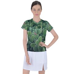 Green Cactus Women s Sports Top by Sparkle
