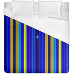 Blueyellow  Duvet Cover (king Size) by Sparkle