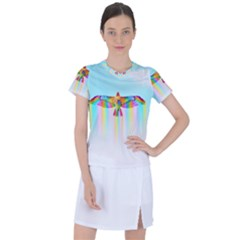Rainbow Bird Women s Sports Top
