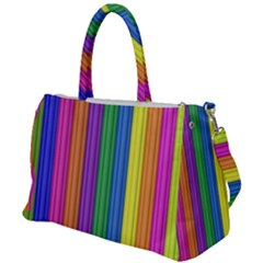 Colorful Spongestrips Duffel Travel Bag by Sparkle