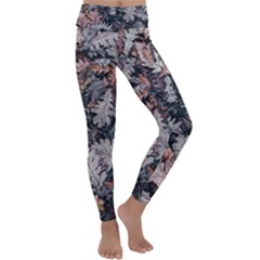 Autumn Leafs Kids  Lightweight Velour Classic Yoga Leggings