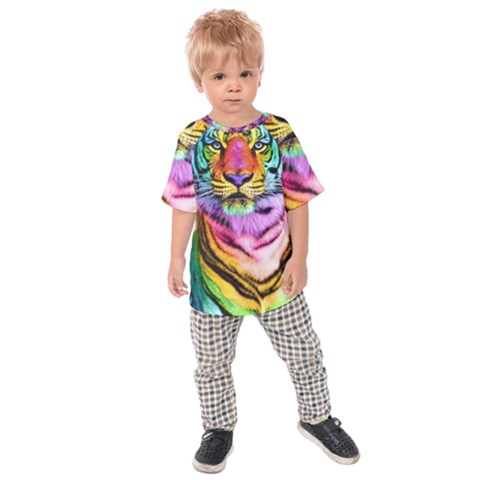 Rainbowtiger Kids  Raglan Tee by Sparkle