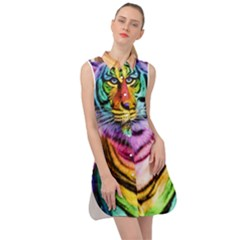 Rainbowtiger Sleeveless Shirt Dress by Sparkle