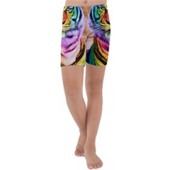 Rainbowtiger Kids  Lightweight Velour Capri Yoga Leggings by Sparkle