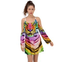 Rainbowtiger Kimono Sleeves Boho Dress by Sparkle