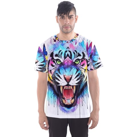 Butterflytiger Men s Sport Mesh Tee by Sparkle