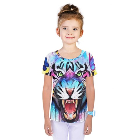 Butterflytiger Kids  One Piece Tee by Sparkle
