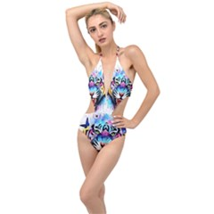 Butterflytiger Plunging Cut Out Swimsuit by Sparkle