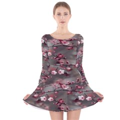 Realflowers Long Sleeve Velvet Skater Dress